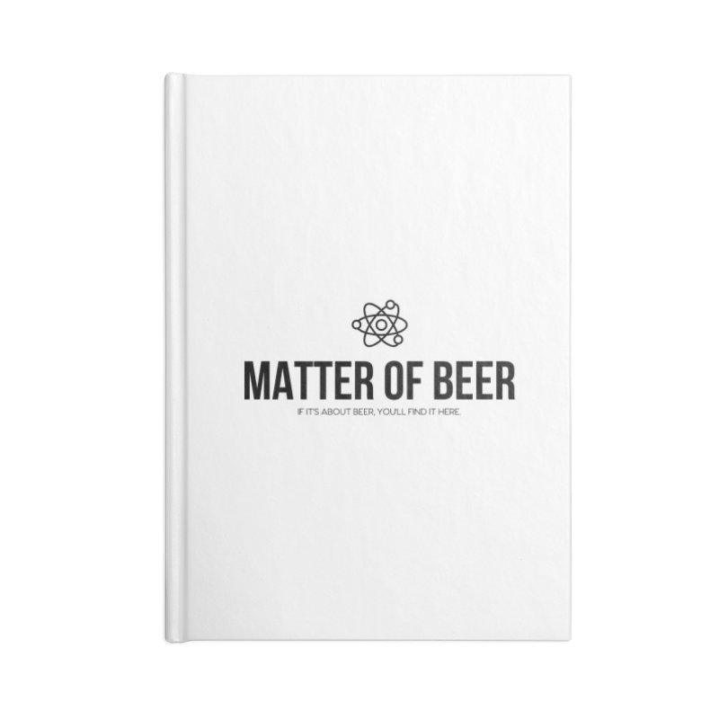 Black Full Logo Accessories Notebook by Matter of Beer Shop