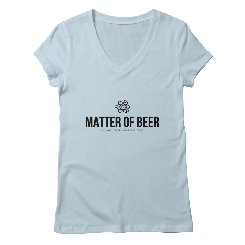 Black Full Logo Women's V-Neck by Matter of Beer Shop