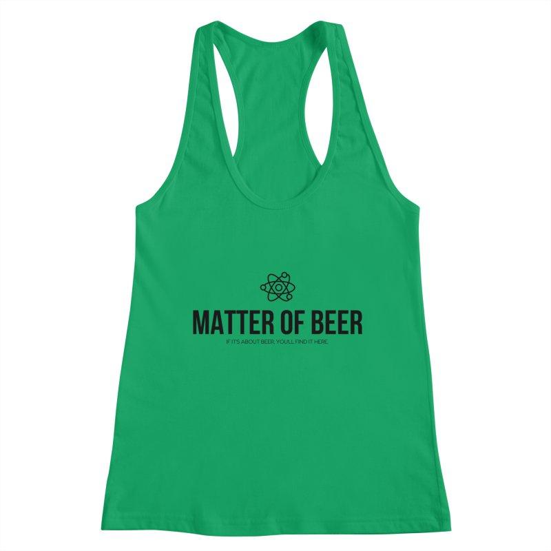 Black Full Logo Women's Tank by Matter of Beer Shop
