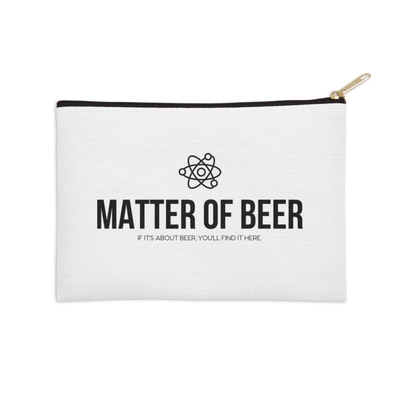 Black Full Logo Accessories Zip Pouch by Matter of Beer Shop