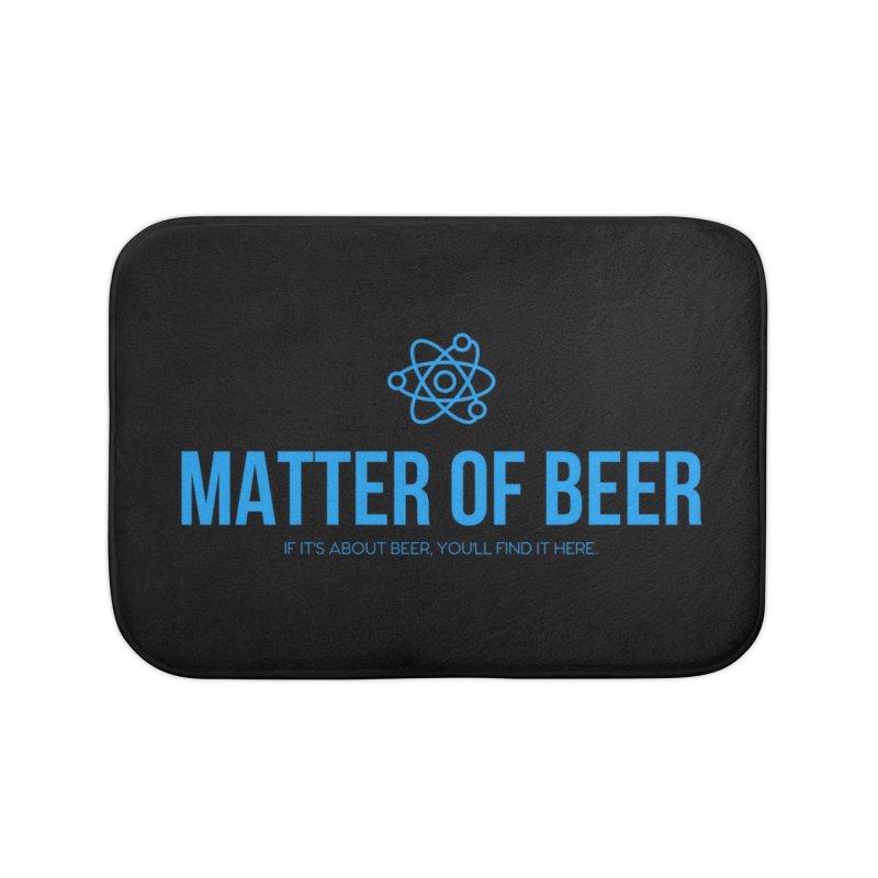 Blue Full Logo Home Bath Mat by Matter of Beer Shop