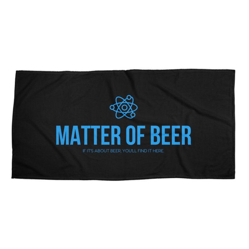 Blue Full Logo Accessories Beach Towel by Matter of Beer Shop