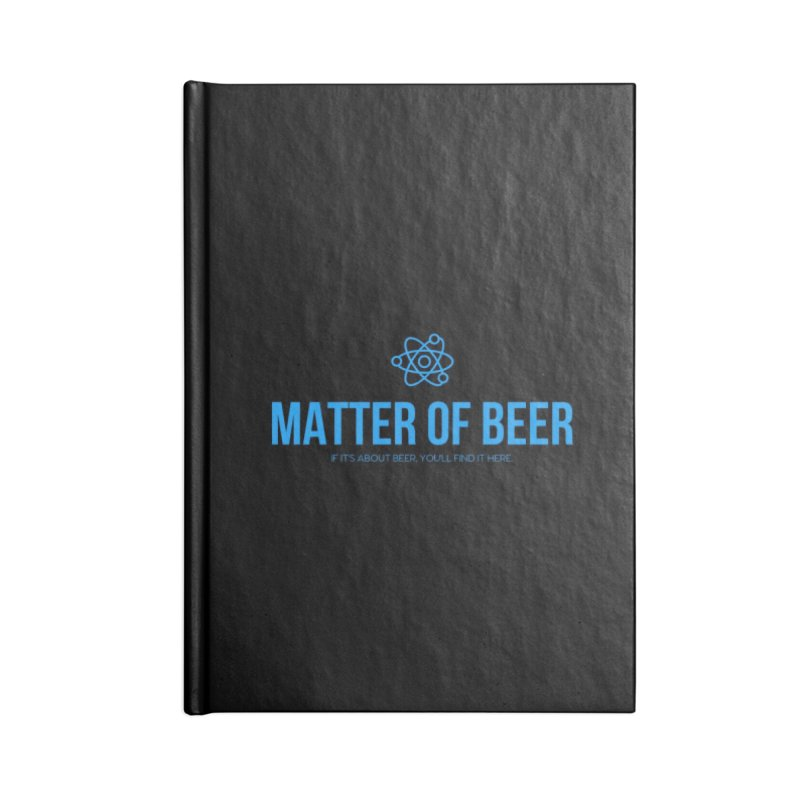 Blue Full Logo Accessories Notebook by Matter of Beer Shop