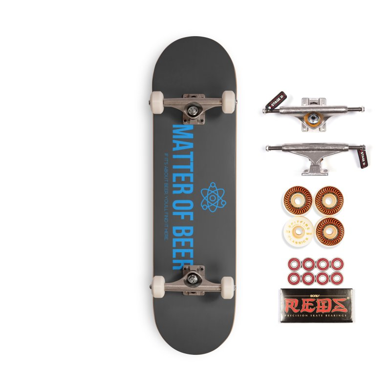 Blue Full Logo Accessories Skateboard by Matter of Beer Shop