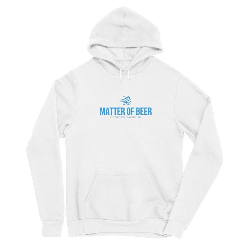 Blue Full Logo Men's Pullover Hoody by Matter of Beer Shop