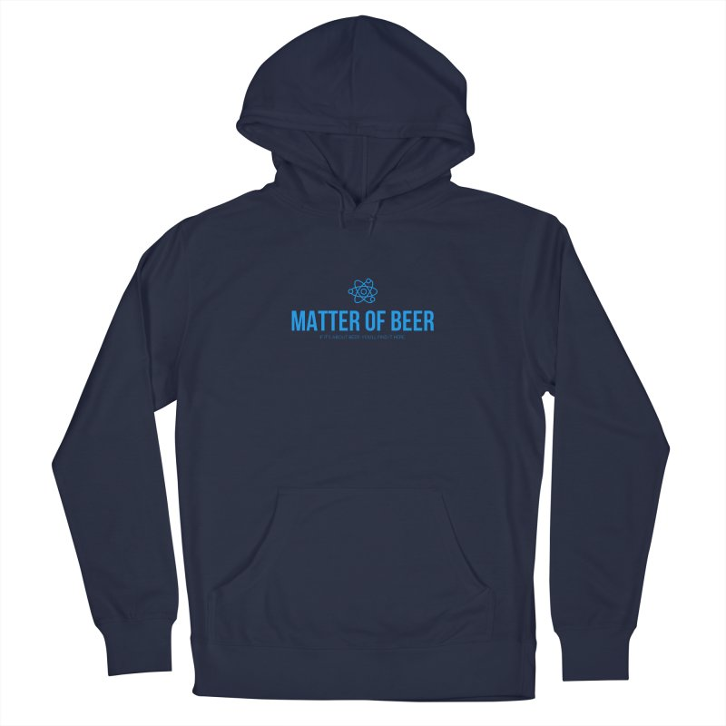 Blue Full Logo Men's Pullover Hoody by Matter of Beer Shop