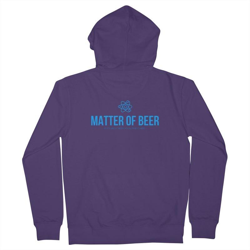 Blue Full Logo Women's Zip-Up Hoody by Matter of Beer Shop