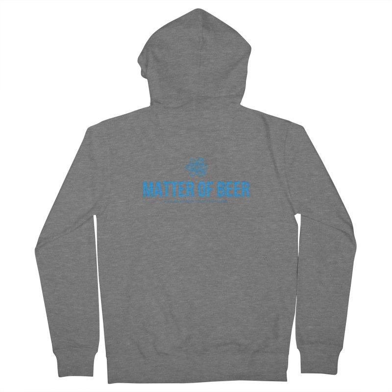 Blue Full Logo Men's Zip-Up Hoody by Matter of Beer Shop