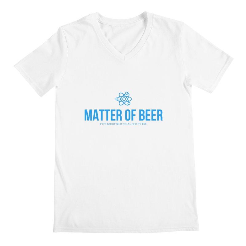 Blue Full Logo Men's V-Neck by Matter of Beer Shop