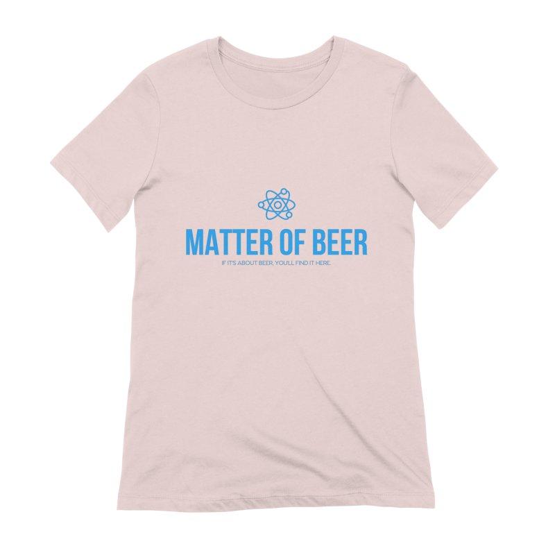 Blue Full Logo Women's T-Shirt by Matter of Beer Shop