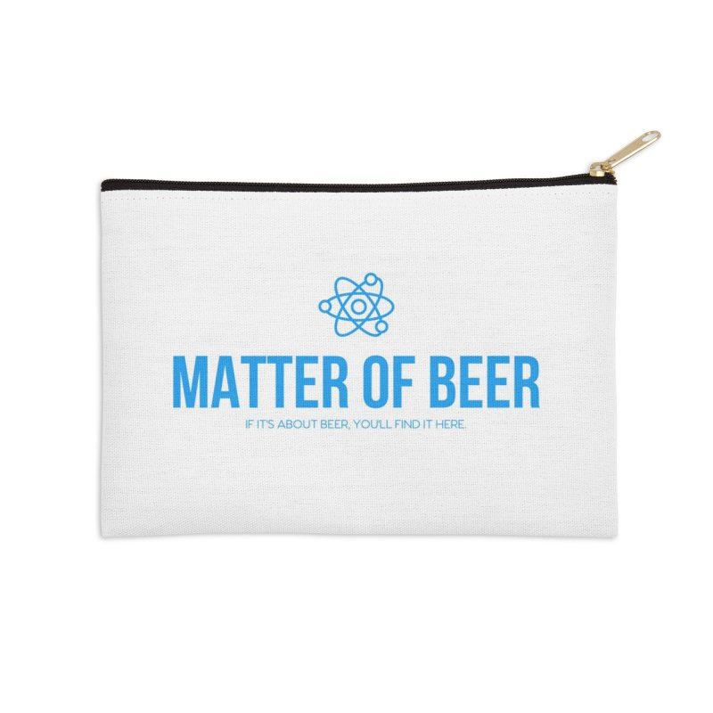Blue Full Logo Accessories Zip Pouch by Matter of Beer Shop