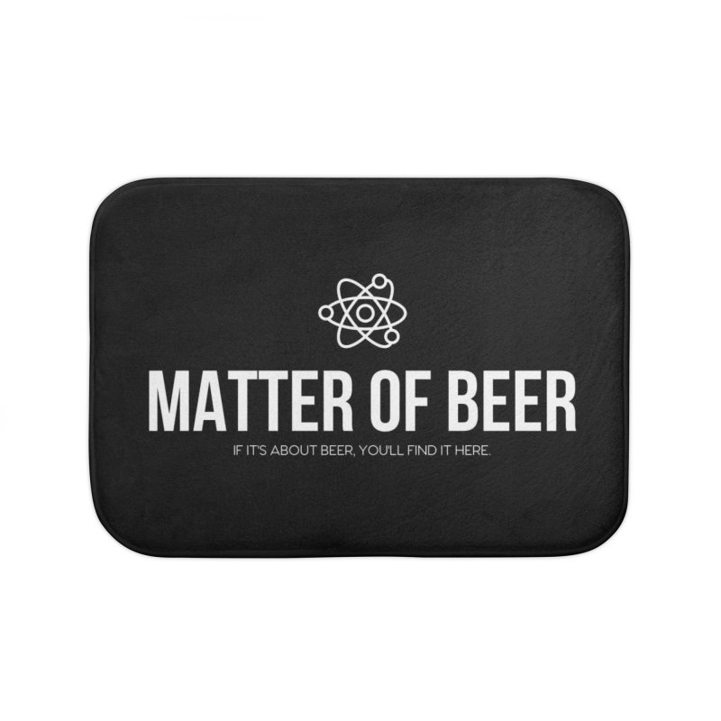 White Full Logo Home Bath Mat by Matter of Beer Shop