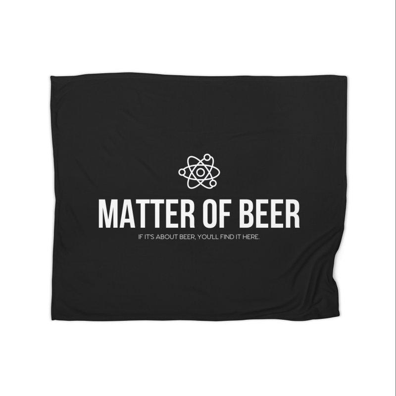 White Full Logo Home Blanket by Matter of Beer Shop