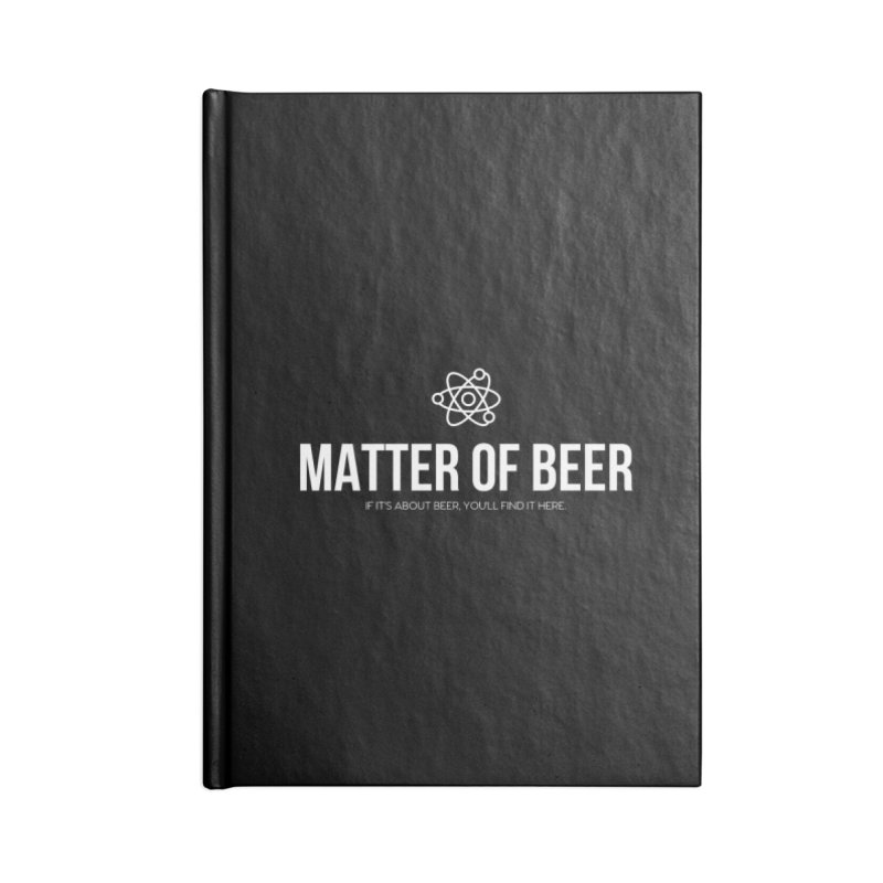 White Full Logo Accessories Notebook by Matter of Beer Shop