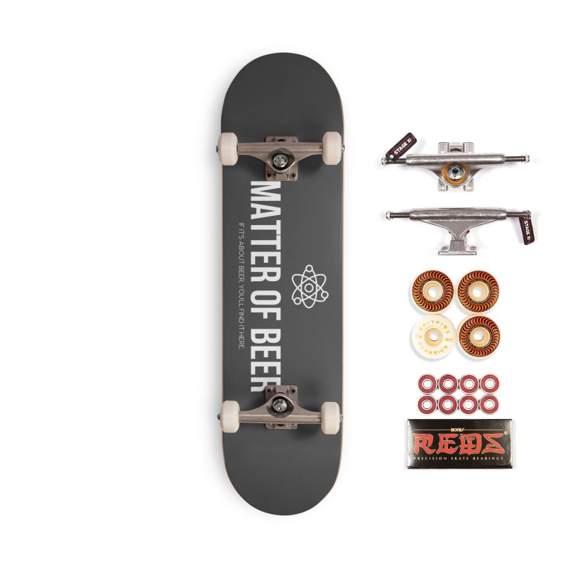 White Full Logo Accessories Skateboard by Matter of Beer Shop