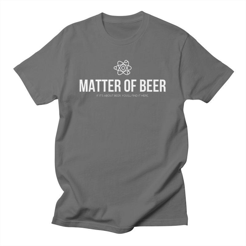White Full Logo Men's T-Shirt by Matter of Beer Shop
