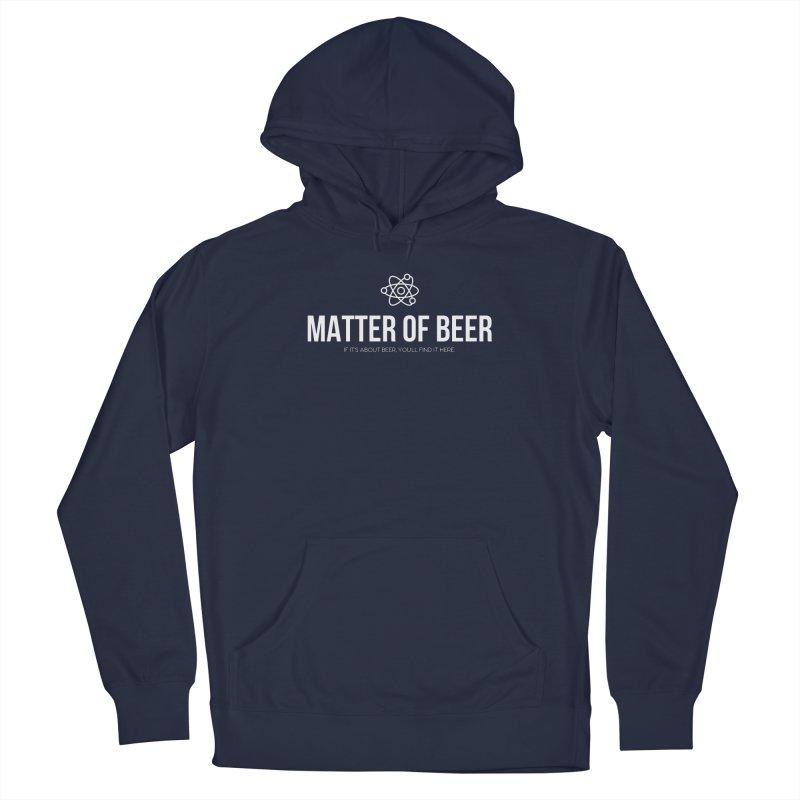 White Full Logo Men's Pullover Hoody by Matter of Beer Shop