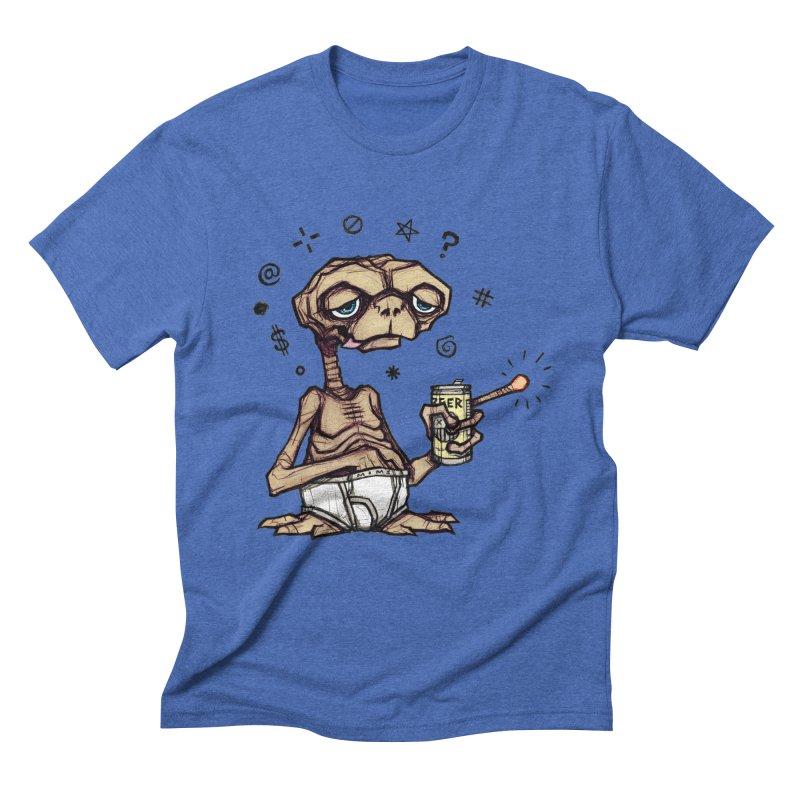 D.T. in Men's Triblend T-shirt Blue Triblend by Matt Mims's Shop