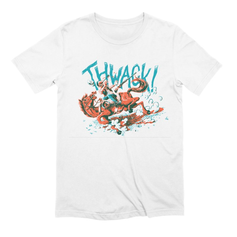 Thwack! in Men's Extra Soft T-Shirt White by Max Marcil Shop