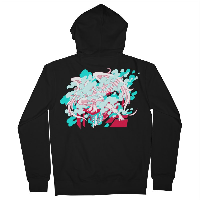 Vigilancia Nublada Women's French Terry Zip-Up Hoody by Max Marcil Design & Illustration Shop