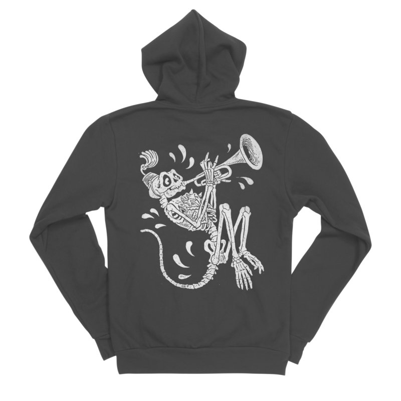 Trumpet Monkey Men's Sponge Fleece Zip-Up Hoody by Max Marcil Shop