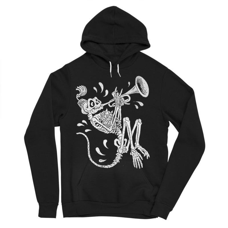 Trumpet Monkey Men's Sponge Fleece Pullover Hoody by Max Marcil Design & Illustration Shop