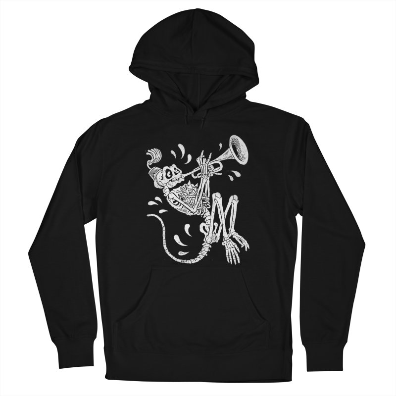 Trumpet Monkey Women's French Terry Pullover Hoody by Max Marcil Shop