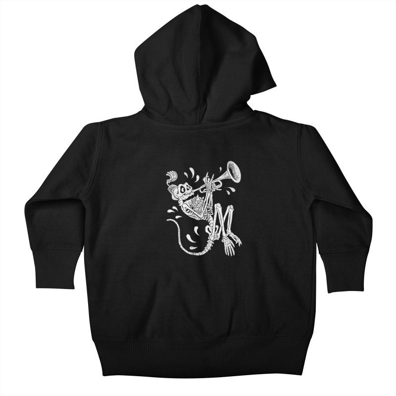 Trumpet Monkey Kids Baby Zip-Up Hoody by Max Marcil Shop