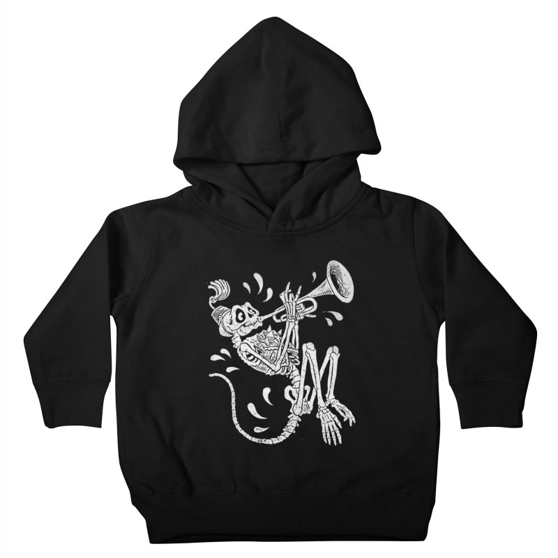 Trumpet Monkey Kids Toddler Pullover Hoody by Max Marcil Shop