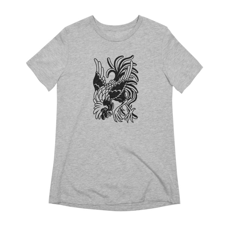 Dancing Rooster Women's Extra Soft T-Shirt by Max Marcil Shop