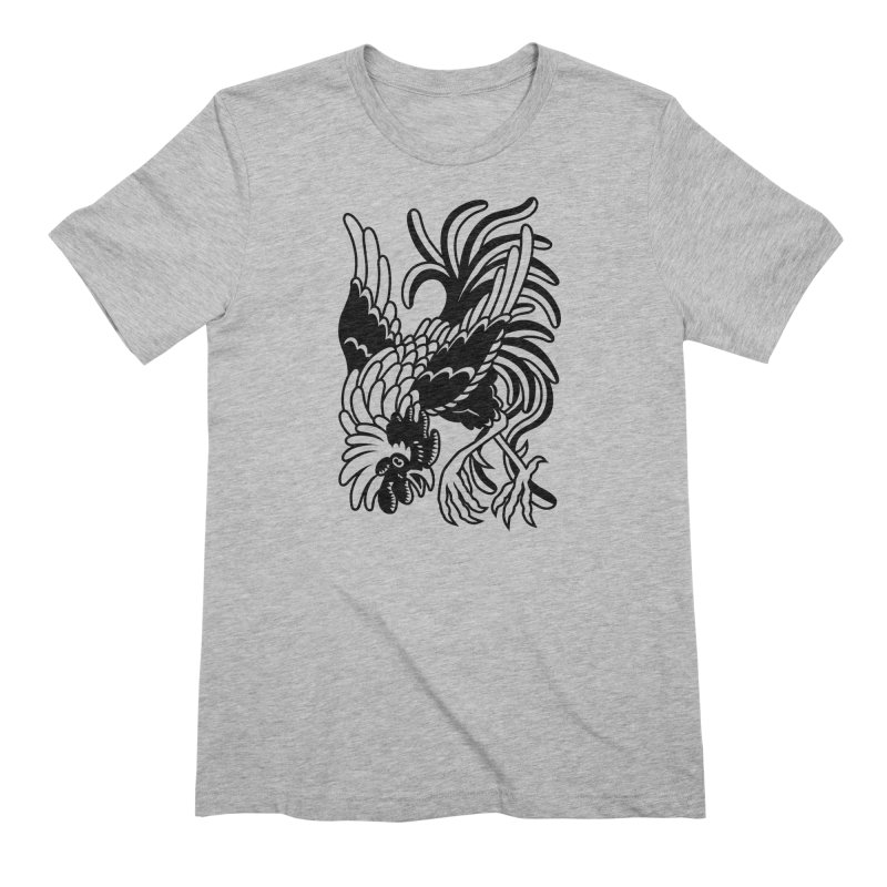 Dancing Rooster Men's T-Shirt by Max Marcil Shop