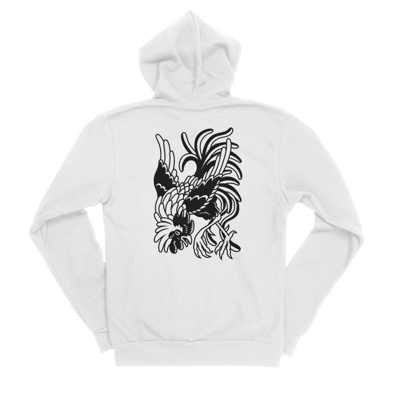 Dancing Rooster Men's Zip-Up Hoody by Max Marcil Shop