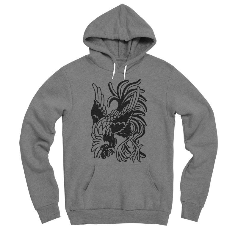 Dancing Rooster Men's Sponge Fleece Pullover Hoody by Max Marcil Shop