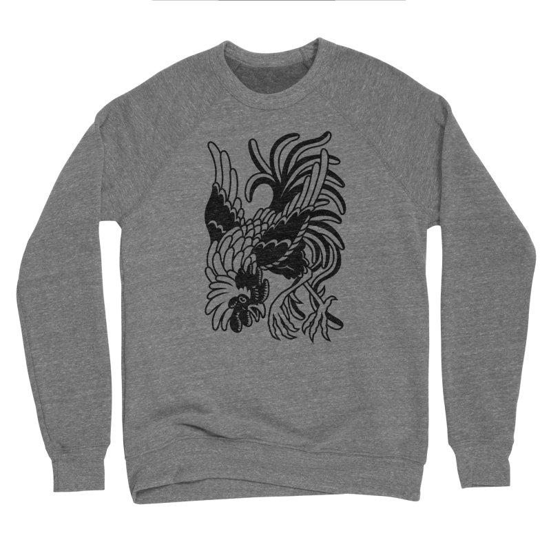 Dancing Rooster Women's Sponge Fleece Sweatshirt by Max Marcil Shop