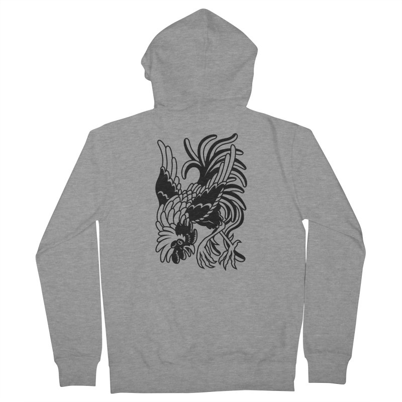 Dancing Rooster Women's French Terry Zip-Up Hoody by Max Marcil Shop