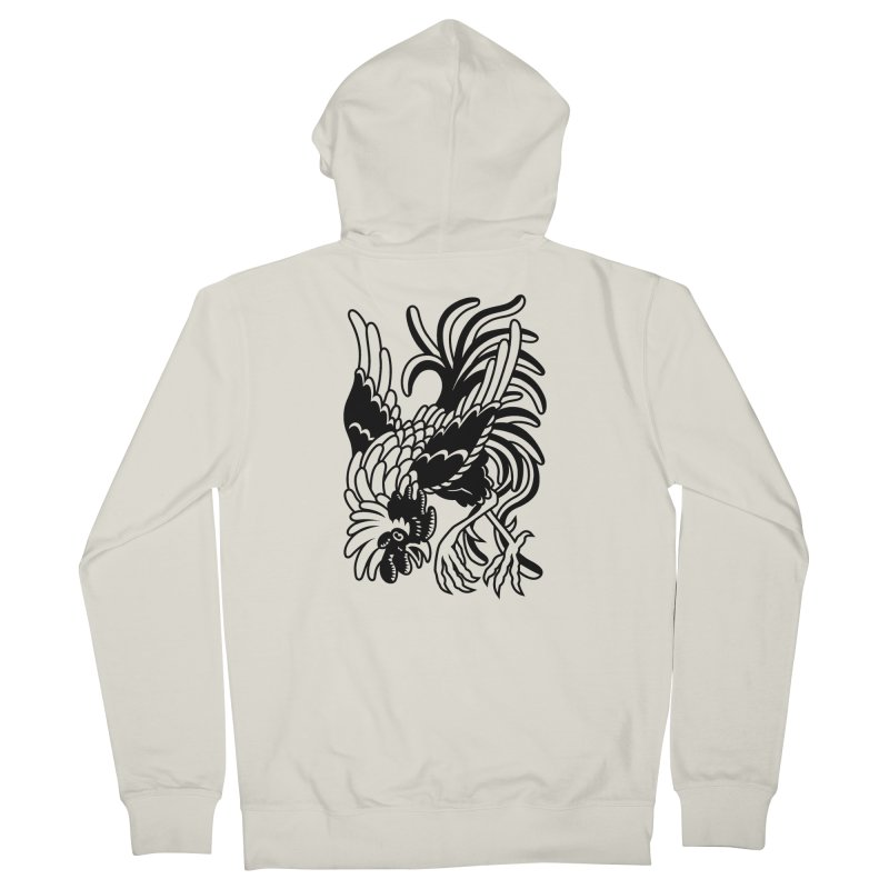 Dancing Rooster Men's French Terry Zip-Up Hoody by Max Marcil Shop