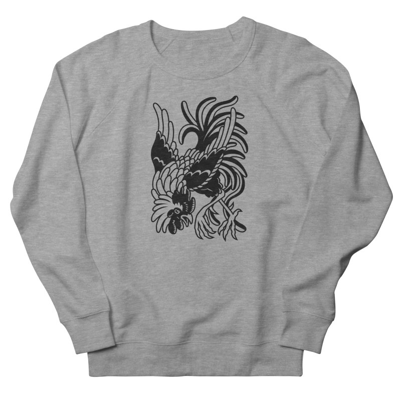 Dancing Rooster Women's French Terry Sweatshirt by Max Marcil Shop