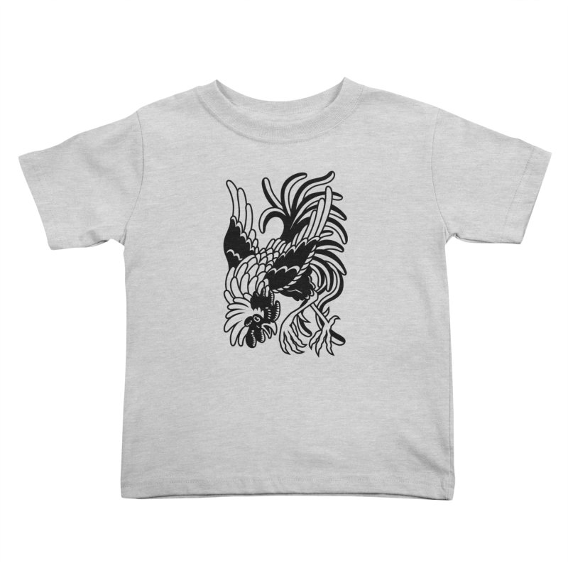 Dancing Rooster Kids Toddler T-Shirt by Max Marcil Shop