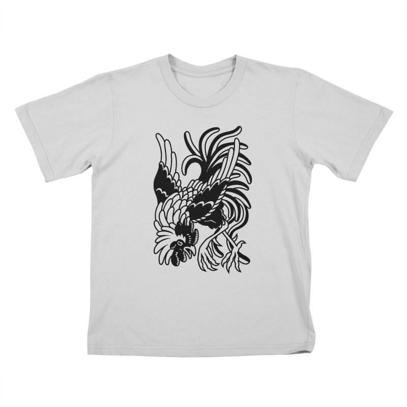 Dancing Rooster Kids T-Shirt by Max Marcil Shop