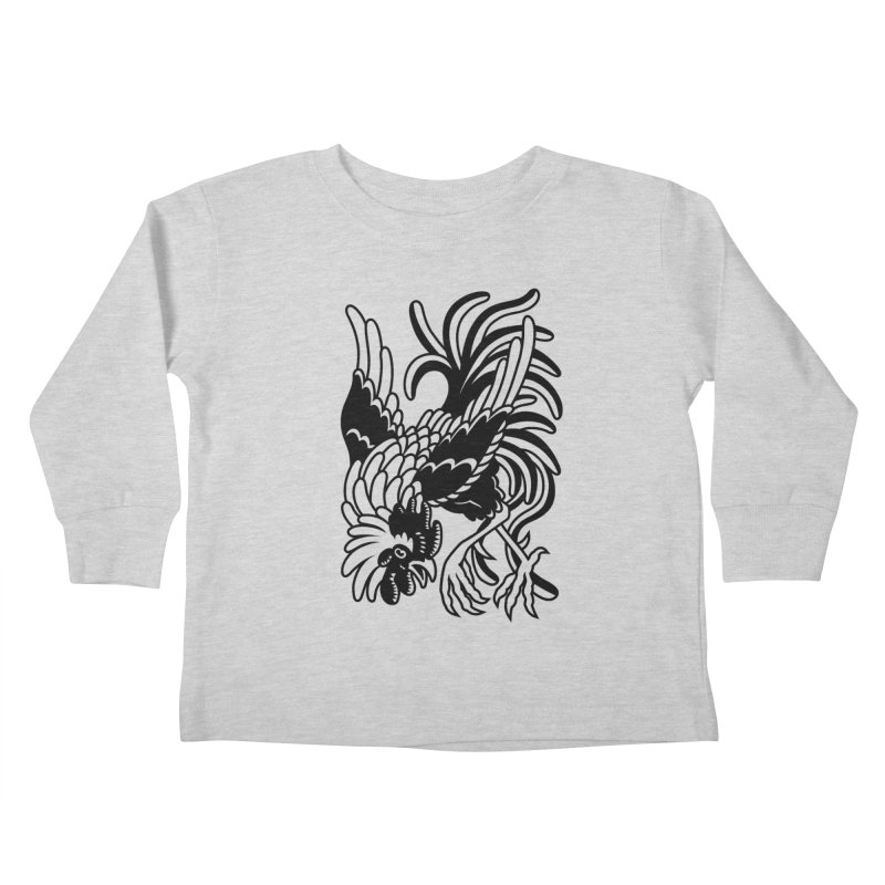 Dancing Rooster Kids Toddler Longsleeve T-Shirt by Max Marcil Shop