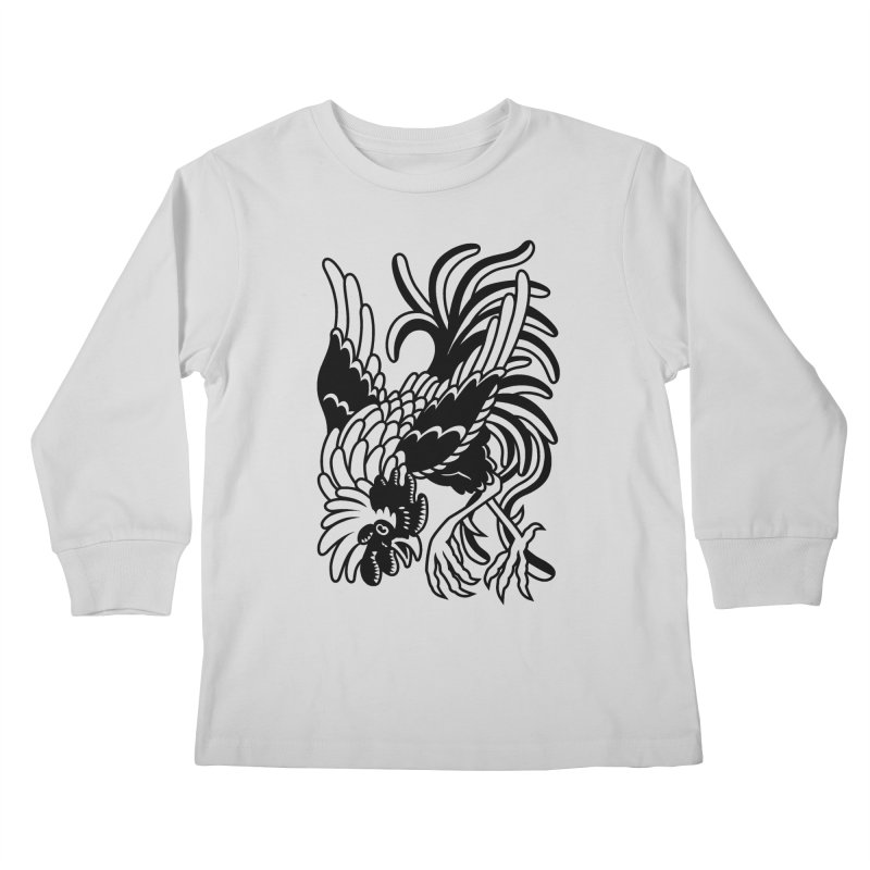 Dancing Rooster Kids Longsleeve T-Shirt by Max Marcil Shop