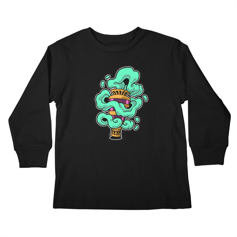 Ghost Vase Kids Longsleeve T-Shirt by Max Marcil Shop