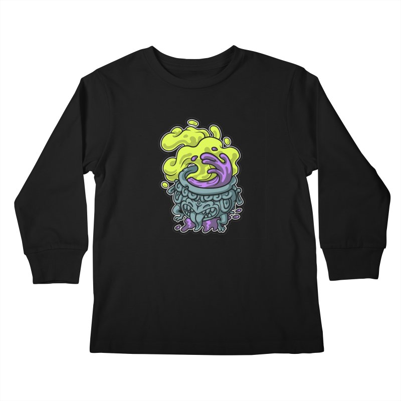 Tipping Cauldron Kids Longsleeve T-Shirt by Max Marcil Shop