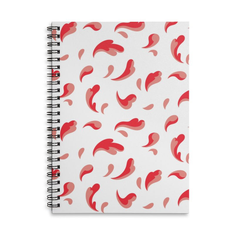 Flowerflow Accessories Lined Spiral Notebook by Max Marcil Shop