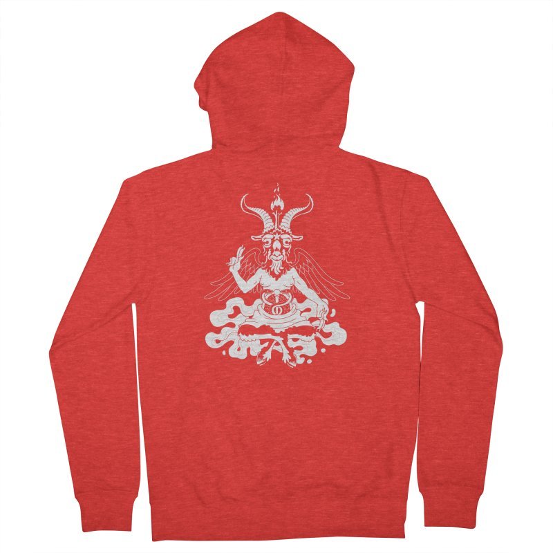 Baphomet (white) Femme Zip-Up Hoody by Max Marcil Shop