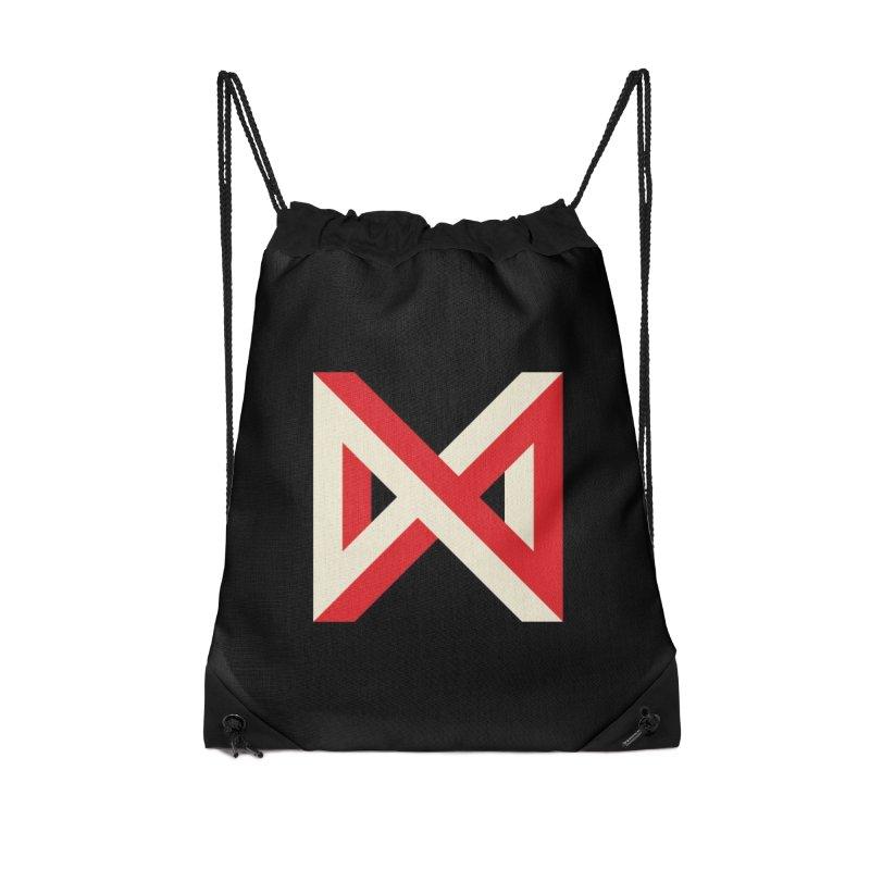 Max Marcil Logo Accessories Drawstring Bag Bag by Max Marcil Shop