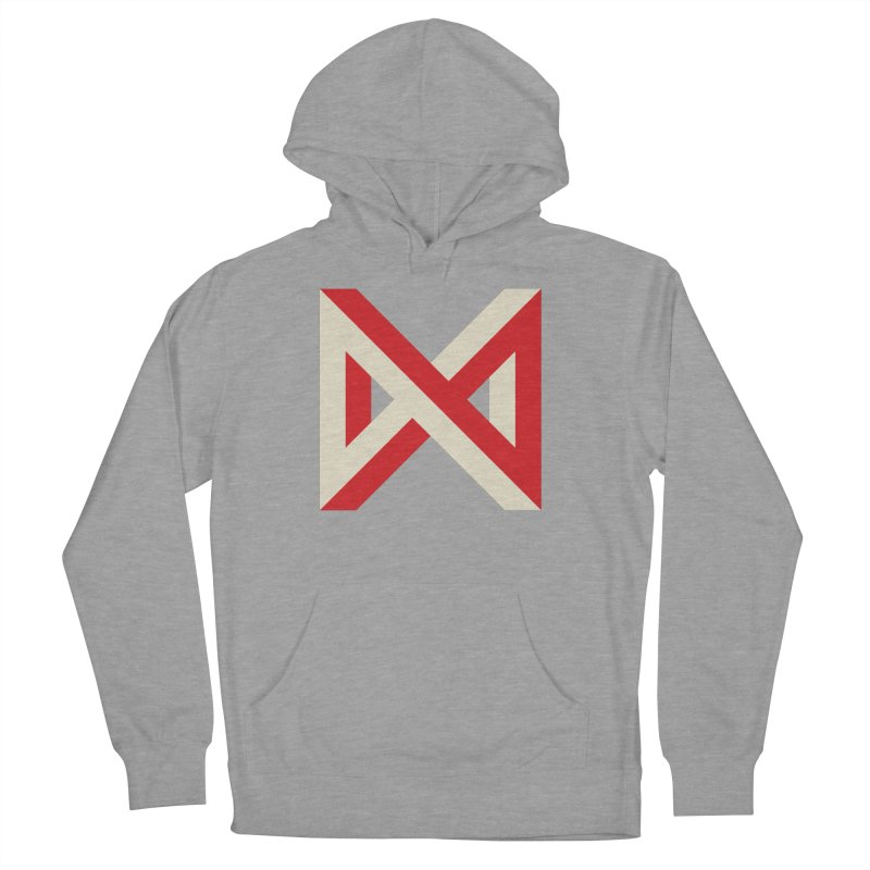 Max Marcil Logo (Red & Cream) Women's French Terry Pullover Hoody by Max Marcil Design & Illustration Shop