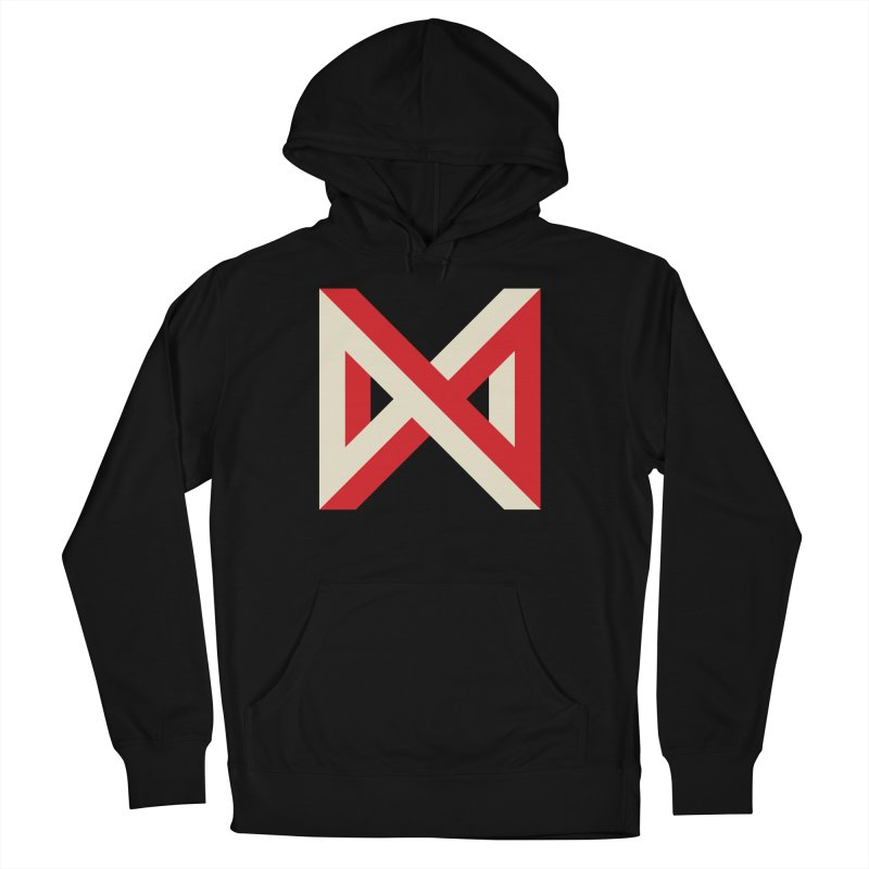 Max Marcil Logo (Red & Cream) Men's French Terry Pullover Hoody by Max Marcil Design & Illustration Shop