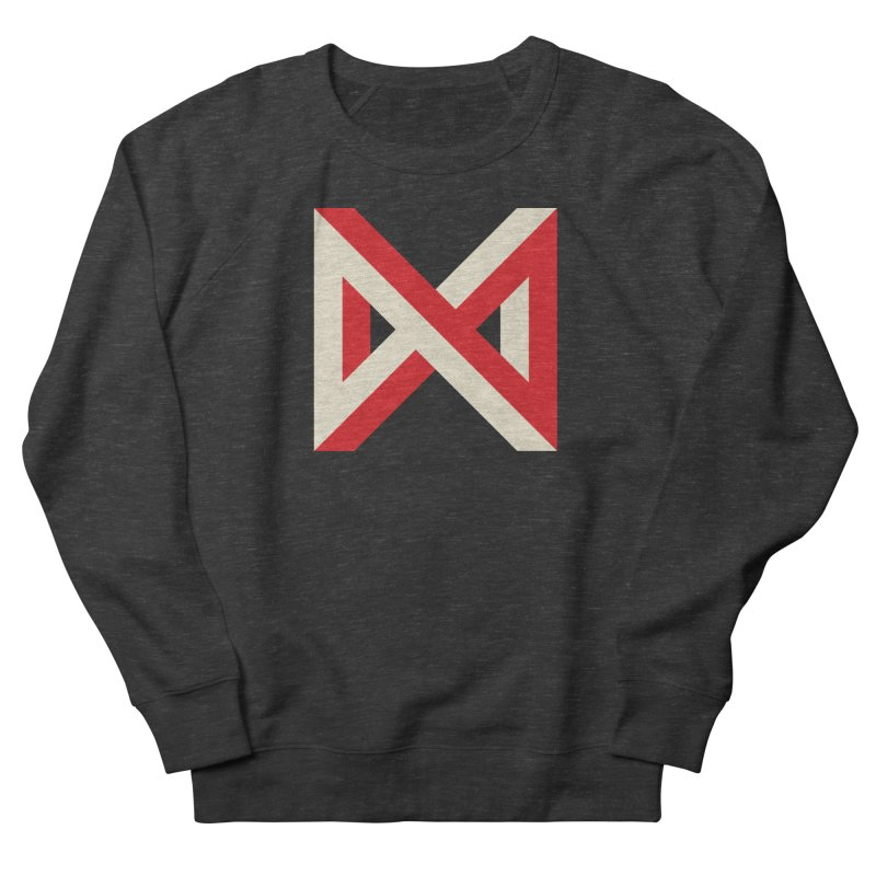 Max Marcil Logo (Red & Cream) Women's French Terry Sweatshirt by Max Marcil Design & Illustration Shop