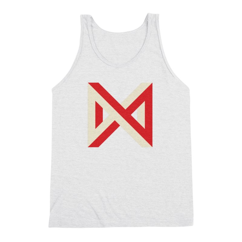Max Marcil Logo (Red & Cream) Men's Triblend Tank by Max Marcil Design & Illustration Shop